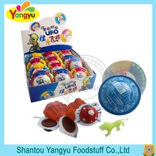 Gyro surprise toy with animal toy delicious chocolate candy