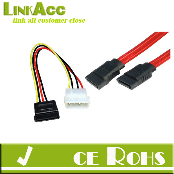 Linkacc1-th134 45cm SATA POWER ADAPTOR & DATA CABLE TWIN PACK HARD DRIVE SERIAL ATA LEAD HDD