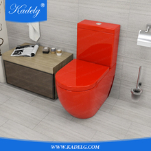 Italian Bathroom Ceramic Toilet Red Color