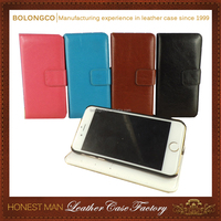 best leather mobile phone cover products For Iphone 7plus Brand wallet case PU Leather Material