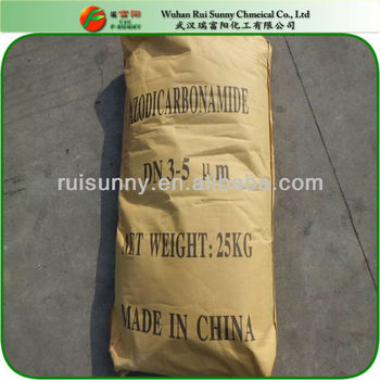 Chemical Material 123-77-3 Azodicarbonamide Plastic or Rubber Blowing Agent&Foaming Agent(ADC-1000-4000)In PVC,PS,PP,PE,EVA,NBS