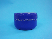 Cobalt Blue Low Profile 4 Oz Jars PET Plastic Empty Cosmetic Containers, Black Caps, Sugar Scrub, Powder, Body Cream, Lotion