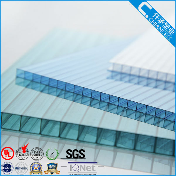 policarbonato Building Polycarbonate Hollow Sheet PC Plastic Board with UV layer