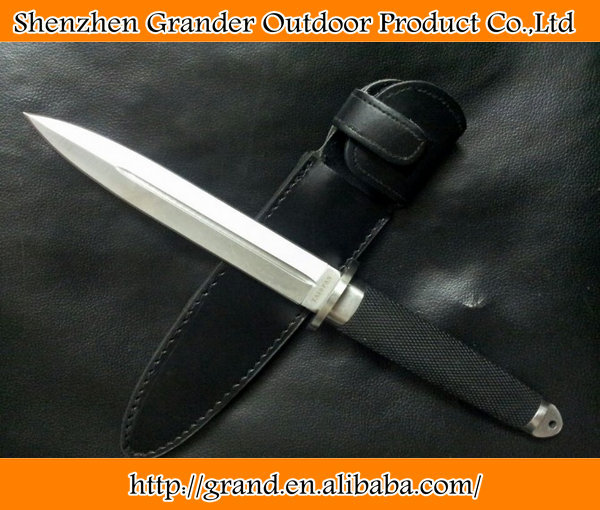 rubber + plastic handle fixed blade survival <strong>knife</strong> tactical tools hand OEM <strong>Knife</strong> 5334
