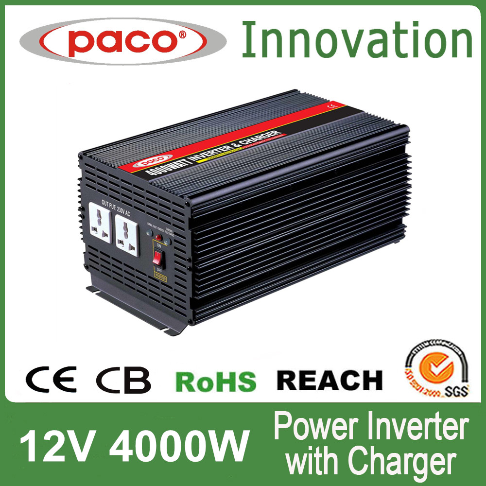 UPS Automobile Solar inverter charger 4kva 230volt for 12v/24v lead acid batteries