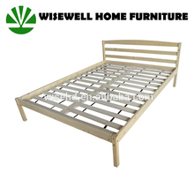 WJZ-B581 wooden king size bed frame in bedroom