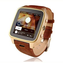 Luxury Stylish 3G CDMA Wifi Smart Watch Phone with Android 4.2.2 O.S Camera GPS and Leather Lace