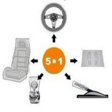 Pratical and fair price car interior accessories plastic care products 5 in 1 kit