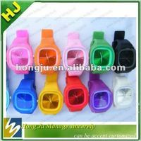 Hot sell Candy color silicone jelly watch