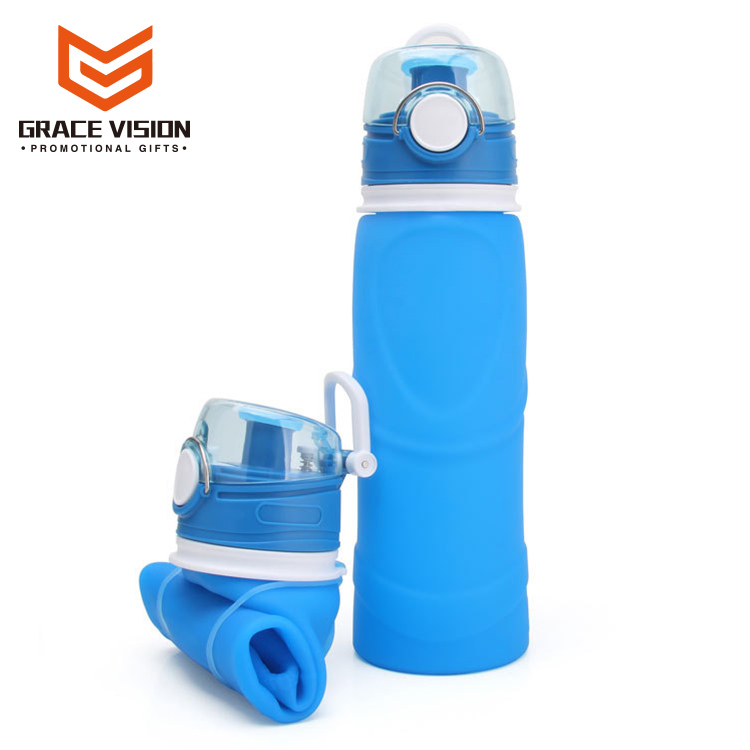 Private Label Collapsible Folding Silicone Water Bottle