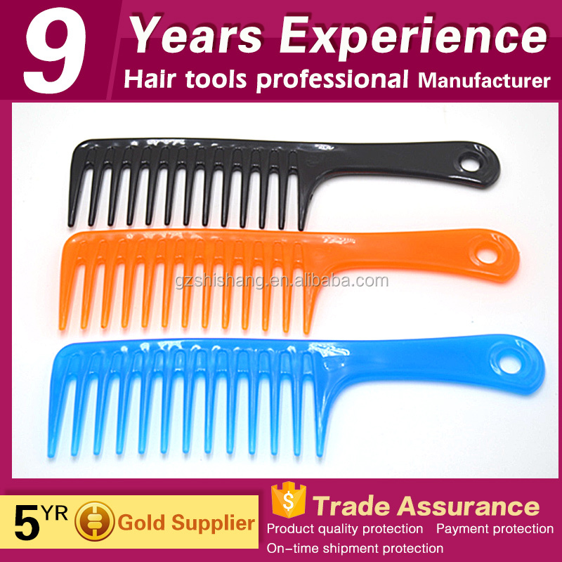 hair salon plastic wide tooth hair comb
