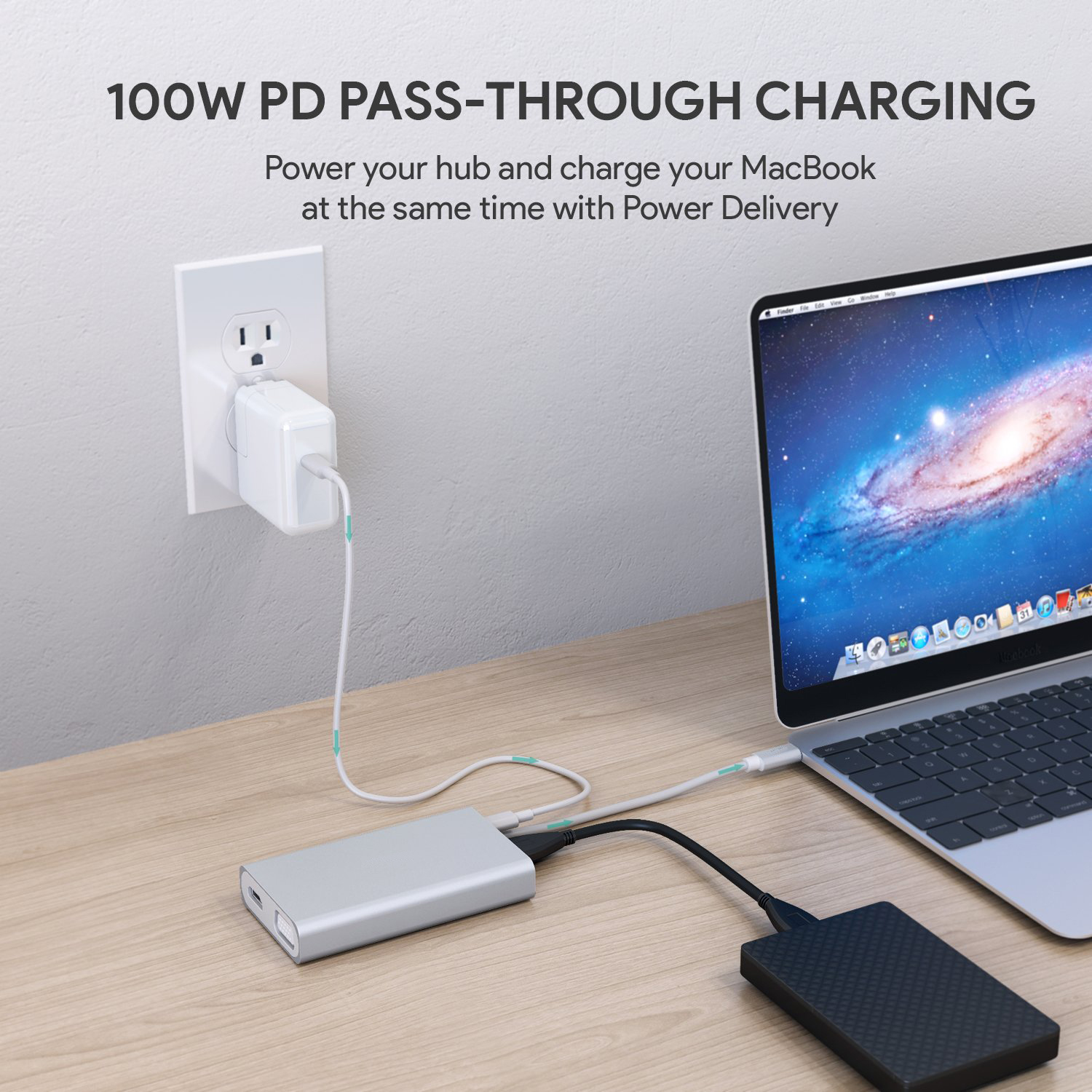 2019 Hot Unique Type C Adapter to USB C Hub 7 in 1 Apple Compatible