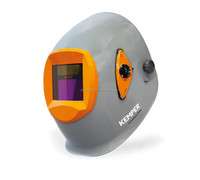 Welding helmet with reliable protection and large viewing area