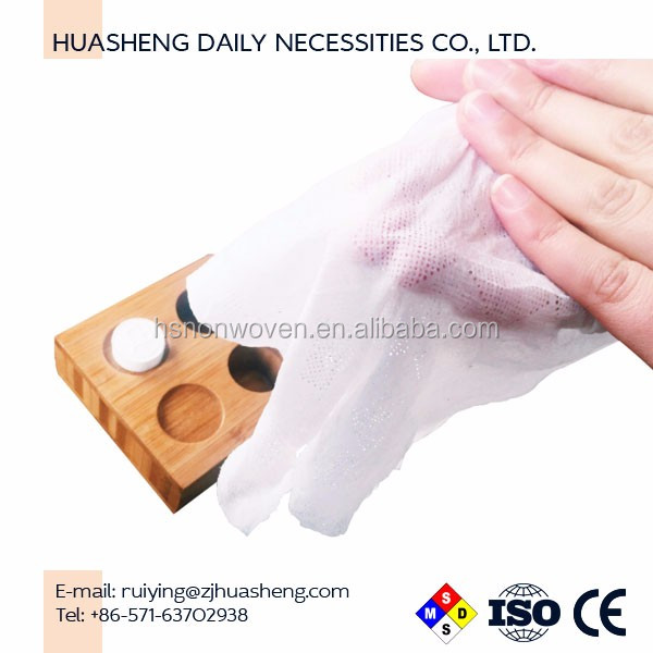 Compressed Mini Magic tissue coin towel HS3737 hands wipes