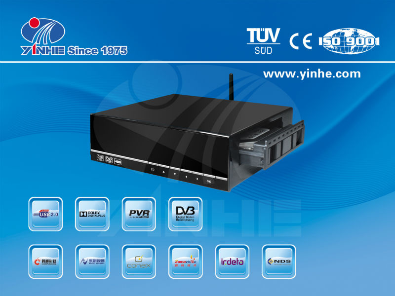 HD Android 4..2 smart tv box DVB-S2 set top box with HDD