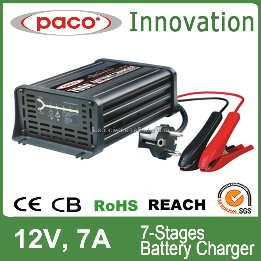 LIGAO/PACO Battery Charger 7A 12V 220~240V, 50Hz Car Battery Charger Price