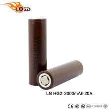 Authentic LG HG2 New Version Version lg hg2 18650 3000mah 20A quality battery