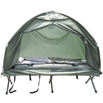 4 in 1 Outdoor POP UP Canopy Camping Tent Bed with Air Mattress and Sleeping Bag