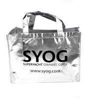 Silver Laminated Non-Woven reusable shopping bags