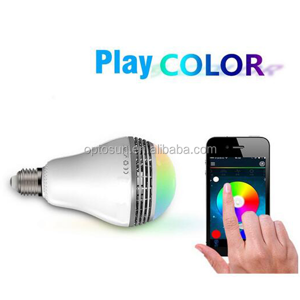 Intelligent home furnishing led intelligent <strong>lighting</strong> mobile phone wifi wireless control network e27 remote control bulb lights
