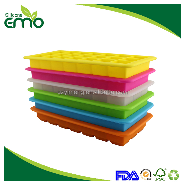 High Quality Low Price Silicone Ice Cube Tray With Lid