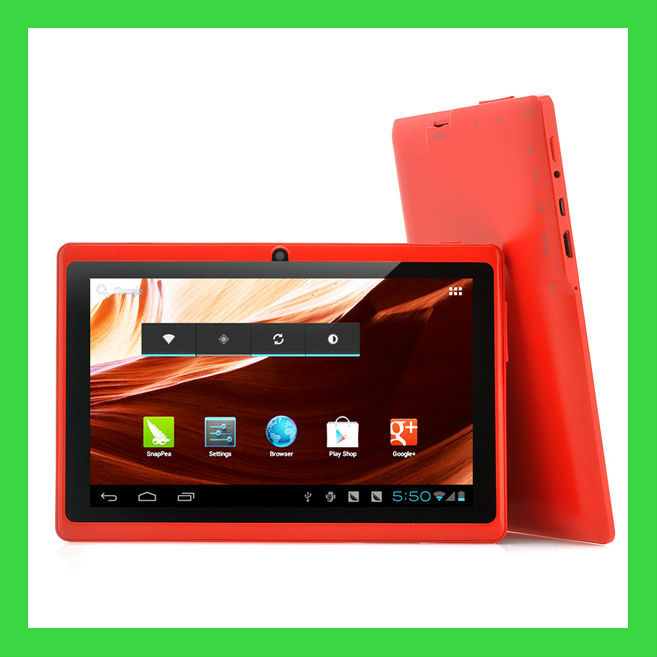"7"" smart tablet pc q88 with quad core A33"