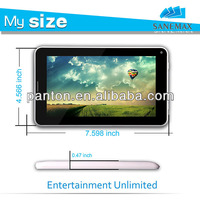 7 inch Allwinner A13 1.2GHZ Android 4.0 tablet pc 2g phone support HD 1080P video