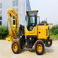foundation construction equipment and pile driving equipment high drilling efficiency mobile guardrail post pile driver