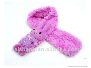 plush animal rabbit scarf
