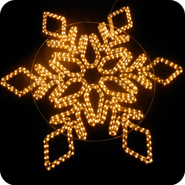 Custom 3d outdoor white christmas metal snowflake ornament