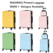 hard shell abs pc travel luggage suitcase with custom print you want