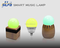 Indoor club decorating music lamp 2015 hot selling intelligent new fashion low cost E27 RGB bluetooth speaker with APP control