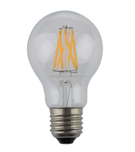 A19 2600k 360 degree glass 4W filament light dimmable LED candle bulbs