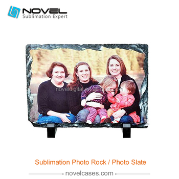 Personalized Sublimation Blank Rock Photo Slate,Wave Top stone slate