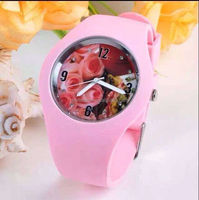 New Arrival SKMEI Brand Women Colorful Flower Watch ladies & girl Silicone Band Quartz Watch 30M Waterproof Sports Watches