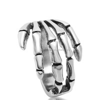 Skeleton Hand Stainless Steel Skull Ring Hot New Jewelry