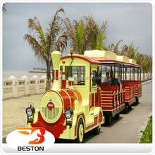 Top amusement park equipment electric or diesel used tourist trackless train for sale