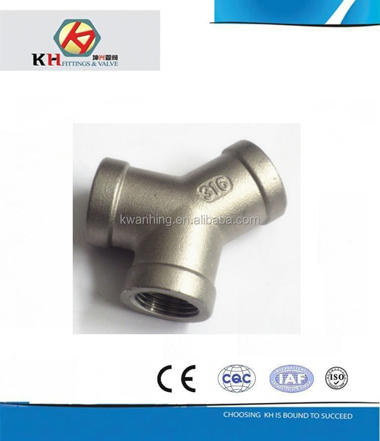 Or orcf m stainless steel pipe fittings y type