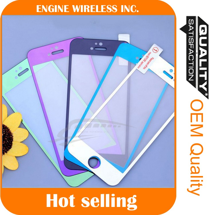 durable&cheap price,Full coverage Colorful Tempered Glass Screen Protector for iphone 6 6plus