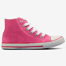 2014 Wholesale China Manufacturer Plain Sneakers girls pink Canvas Shoes