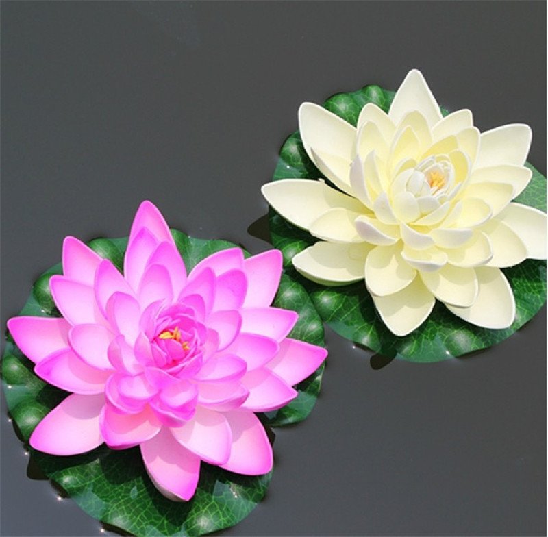 new product for 2016 7Inch lotus leaf 4layer eva artificial plastic water lilies for home dec