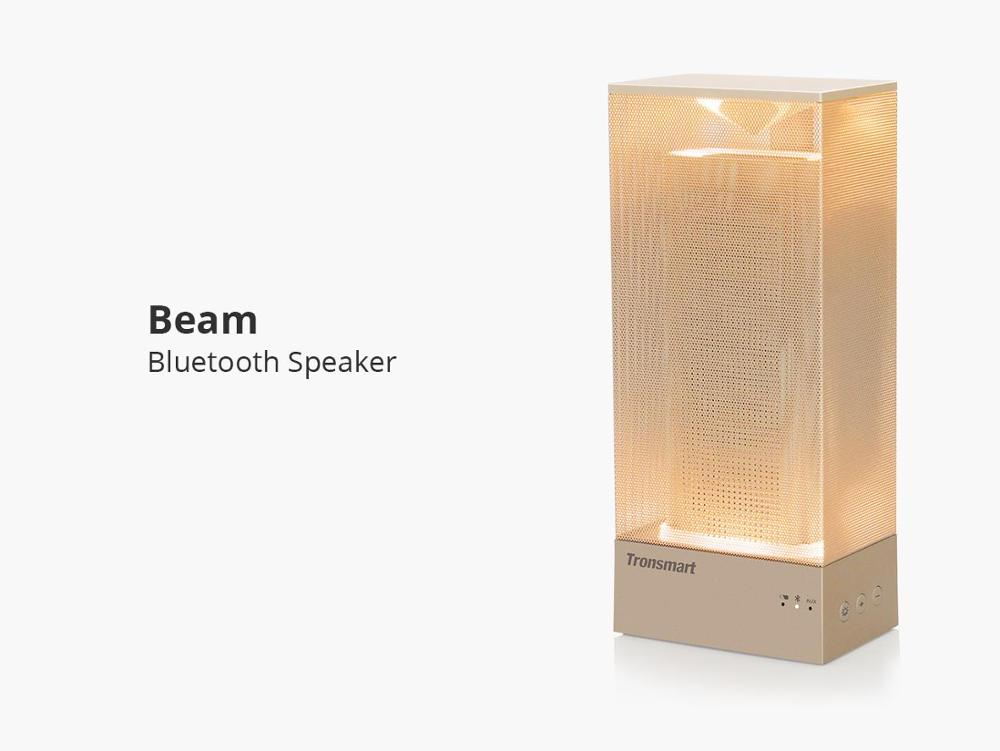Tronsmart Beam 15W Wireless Bluetooth Speaker Solid Mesh Speaker with Deep Bass Mood Lights - Gold