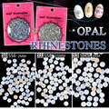 factory sale white pink green flackback round opal Crystal Non Hot Fix Rhinestones