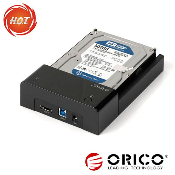 ORICO 6518SUS3 Tool Free USB3.0 and eSATA SATA HDD Docking Station for 2.5''&3.5''