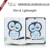 Three Folding PU Stand Function TPU case with pen holder & printing  for New Ipad 9.7''2018