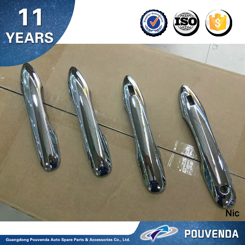New ! ABS Chrome Door Handle Cover For Toyota Prius 2016 Car Handle Sticker Trims Auto accessories from Pouvenda