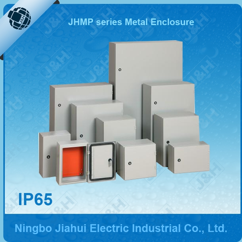 Ningbo panel wall mounted sheet steel metal enclosure, indoor and IP65 outdoor metal enclosure with cut out