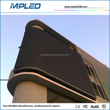 Wall mounted Curved LED Screen P10 Outdoor LED video wall display