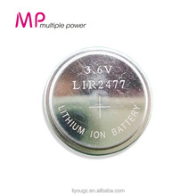 MP brand LIR2477 3.6V Lithium Coin Cell rechargeable Battery Hight Quality button rechargeable Battery For Toy car