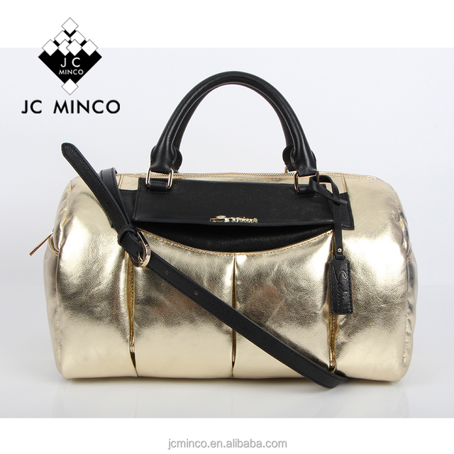 China OEM factory small quantity MOQ golden handbag real goat leather lady popular tote fashion women handbag